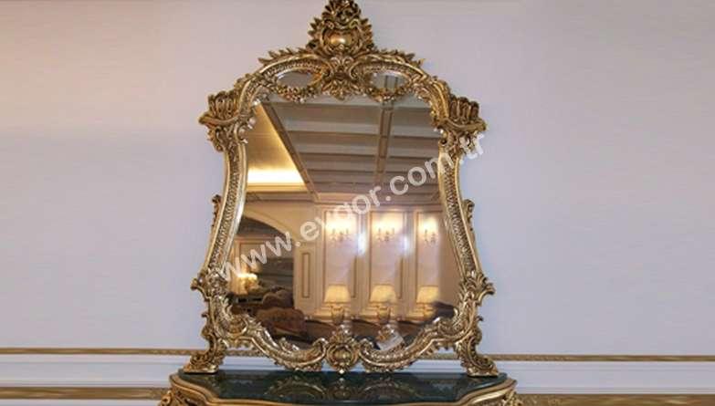 Altın Varaklı Saraylı Ayna