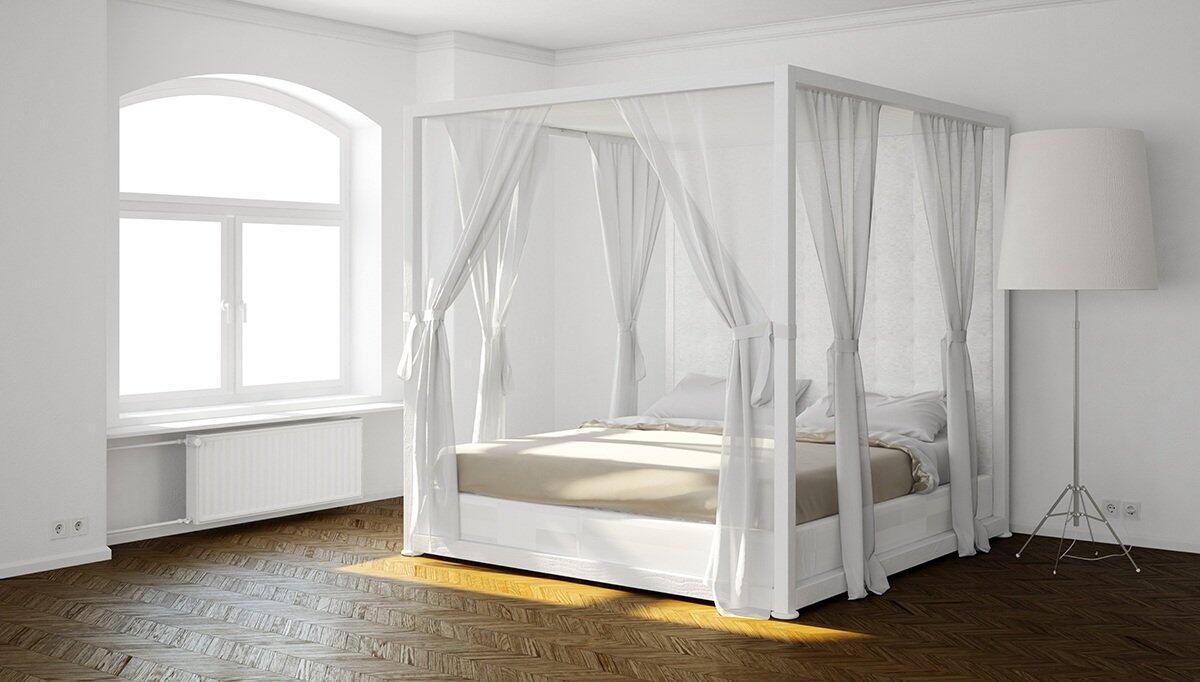 Beyaz Cibinlikli Yatak Odası