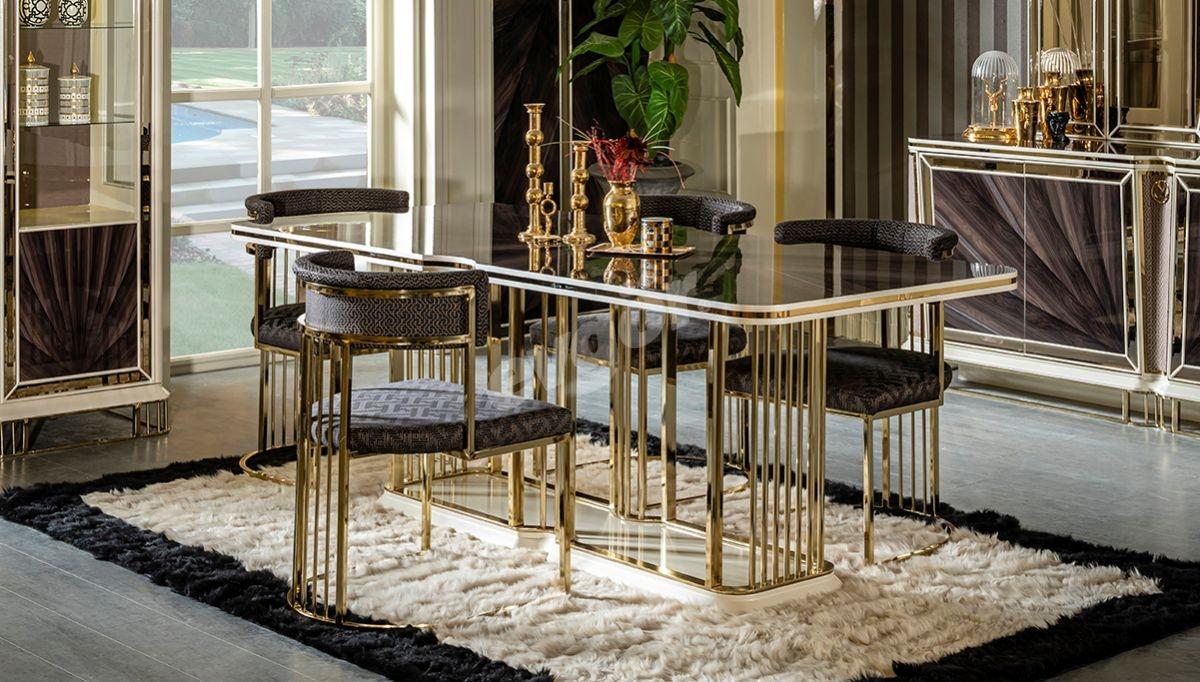 Bugatti Metal Yemek Masası