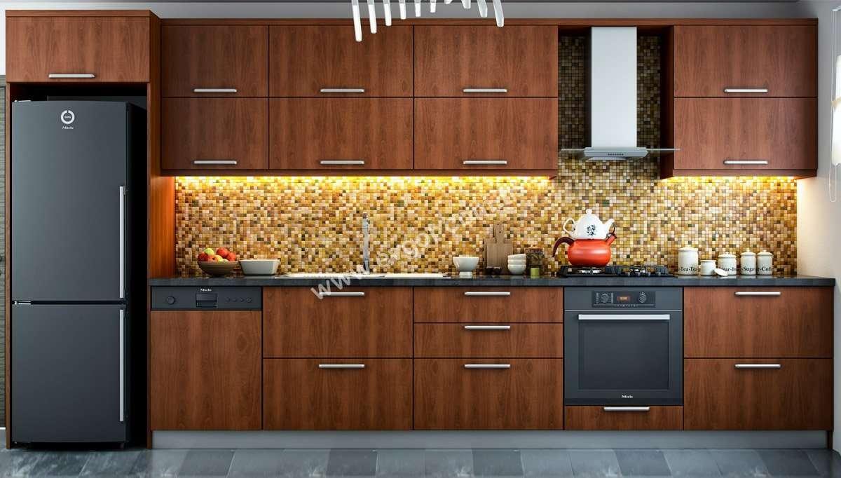 Kiraz Işıklı Mutfak Takımı