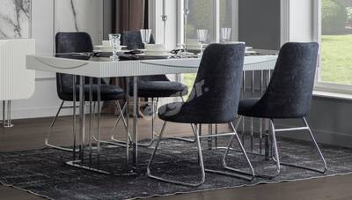 Laguta Beyaz Yemek Masası - Thumbnail