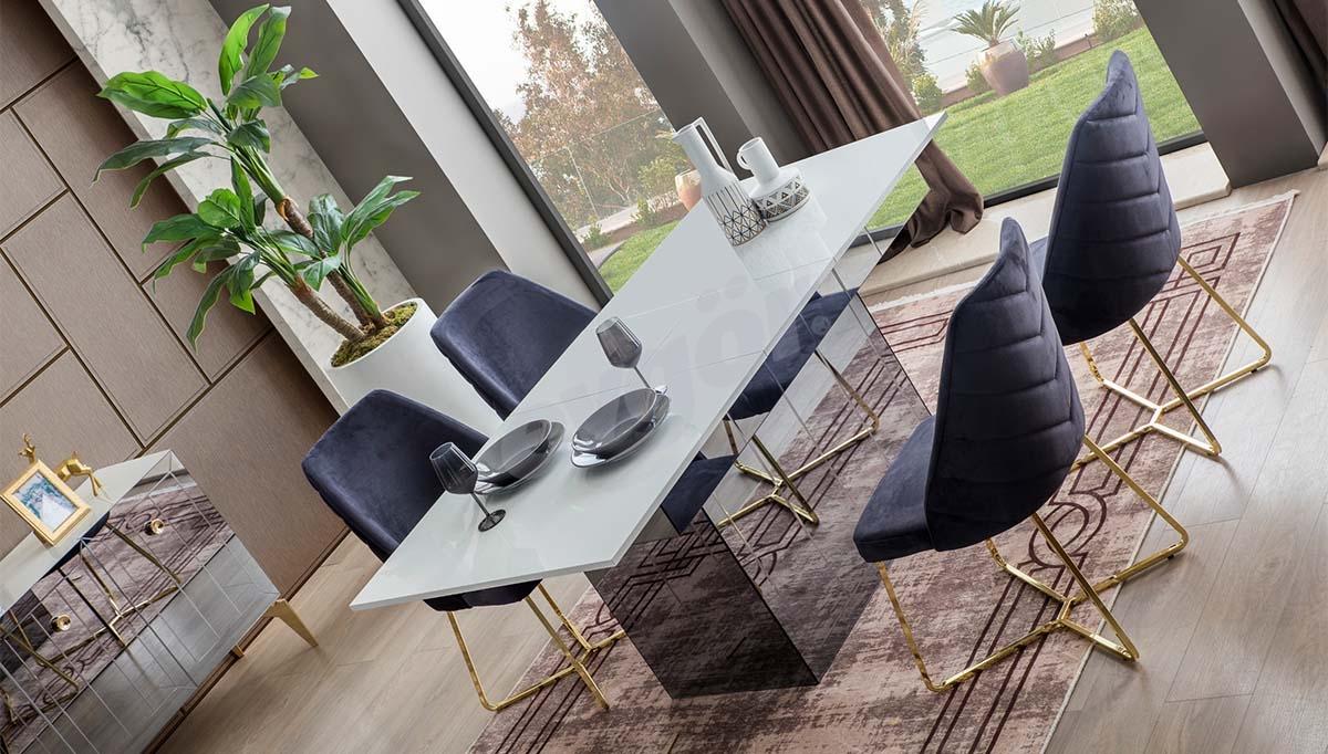 Lekza Metal Yemek Masası