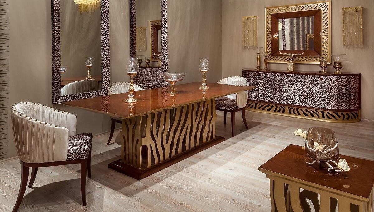 Leopar Klasik Yemek Odası