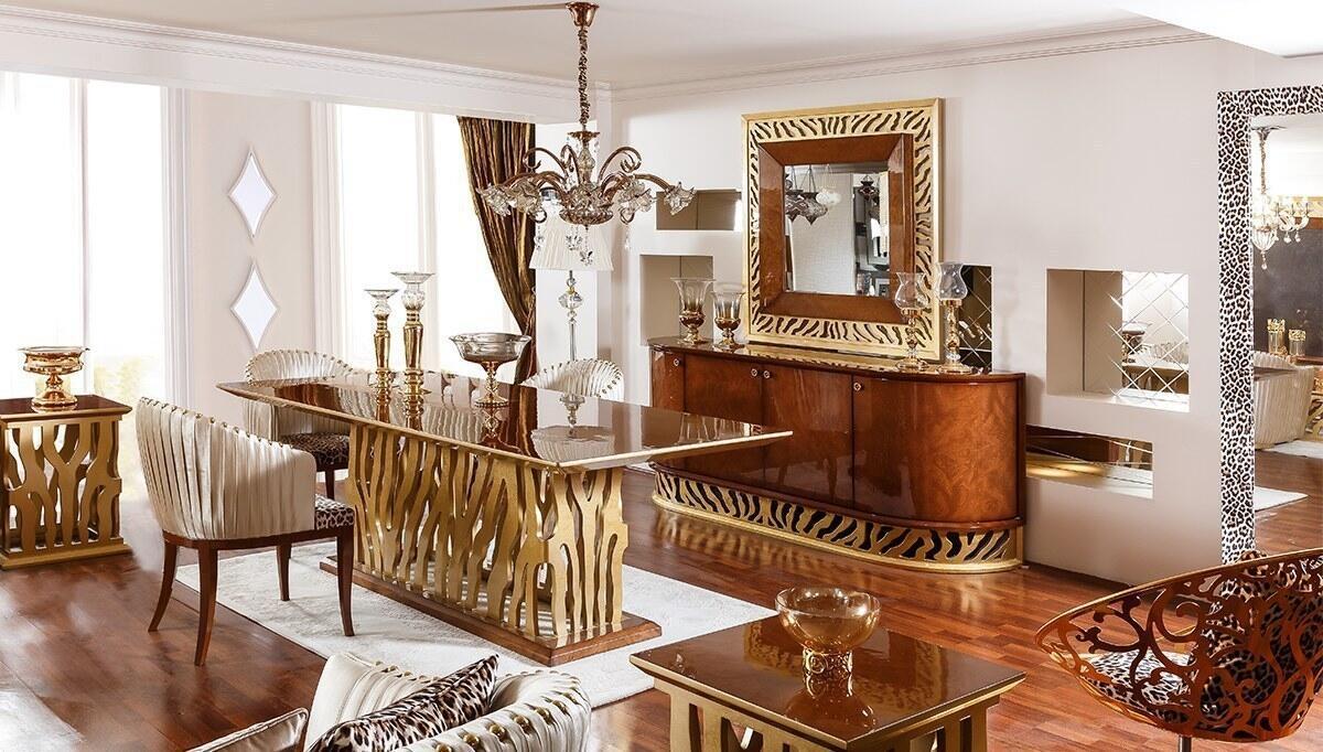 Leopar Klasik Yemek Odası - Thumbnail
