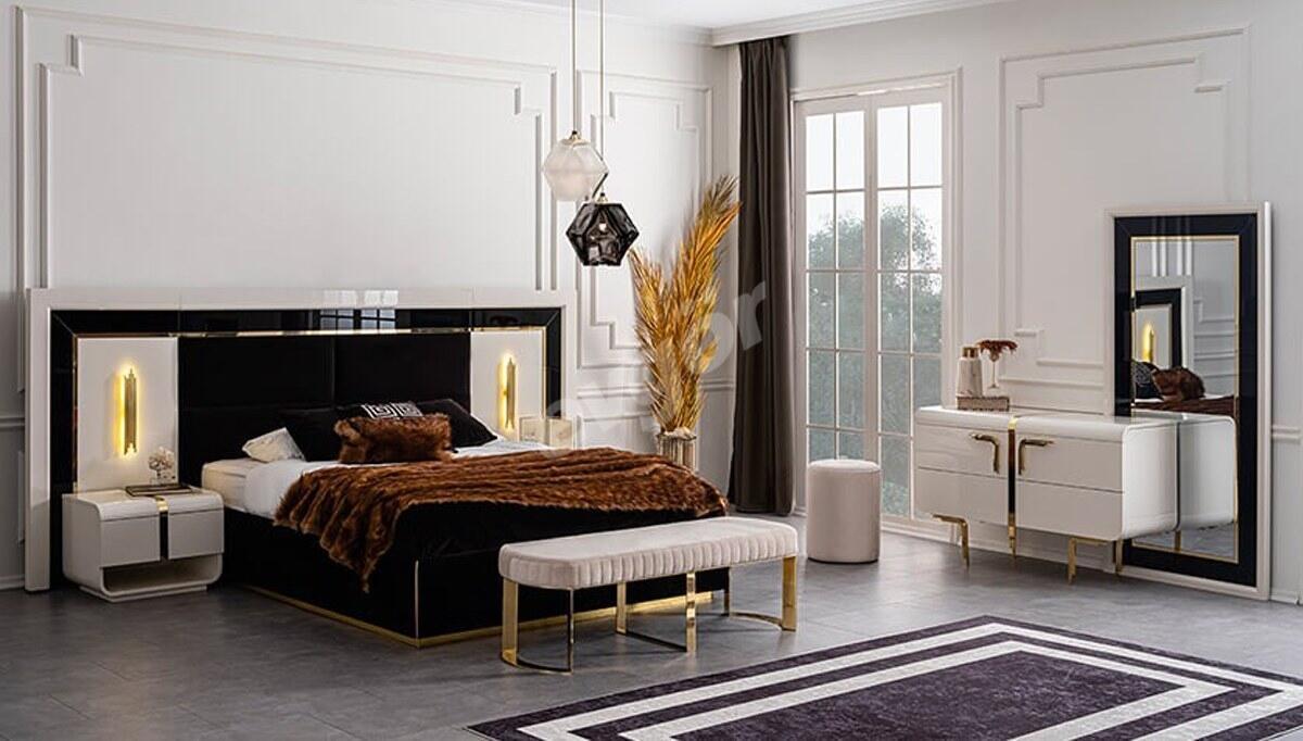 Marble Metal Yatak Odası
