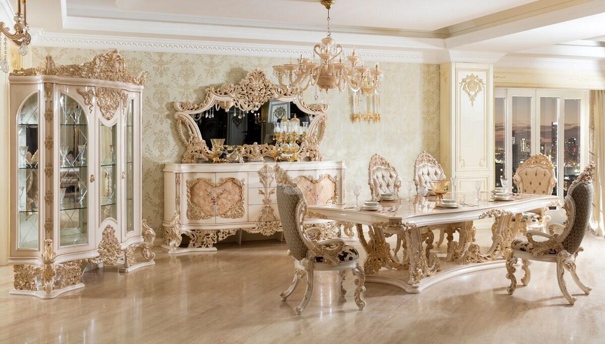 Venora Krem Klasik Yemek Odası